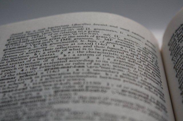 Diccionario Grammar Gramatica en ingles