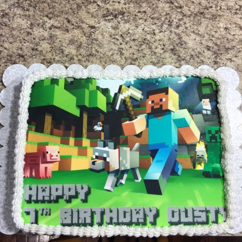 Flip Flops Pop Tarts A Minecraft Birthday Party