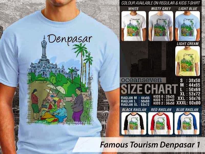 Kaos Wisata Denpasar 1 Indonesia distro ocean seven