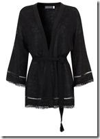 Mint Velvet black linen knit kimono jacket