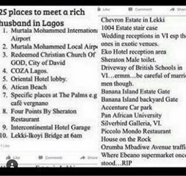 Funny places to meet