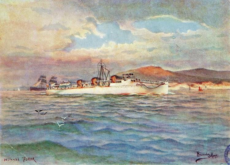 Acuarela del FUROR. Autor Hernandez Monjó. Del libro La Armada Española.JPG