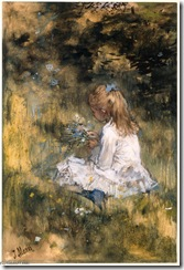 Jacob-Maris-Young-Girl-Artist_s-Daughter-picking-Flowers-in-the-Grass