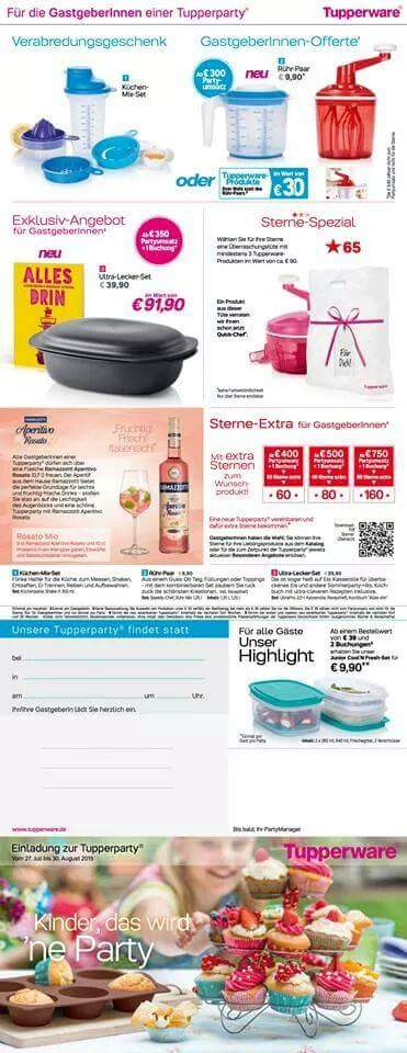 Tupperware angebote august 2016