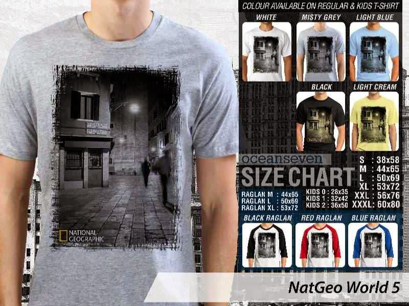 Kaos National Geographic NatGeo World 5 distro ocean seven