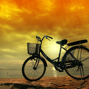 Sunset Bike by Alit  Apriyana - Transportation Bicycles