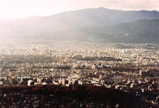 Skyline of Kyoto City, Kyoto, Japan.