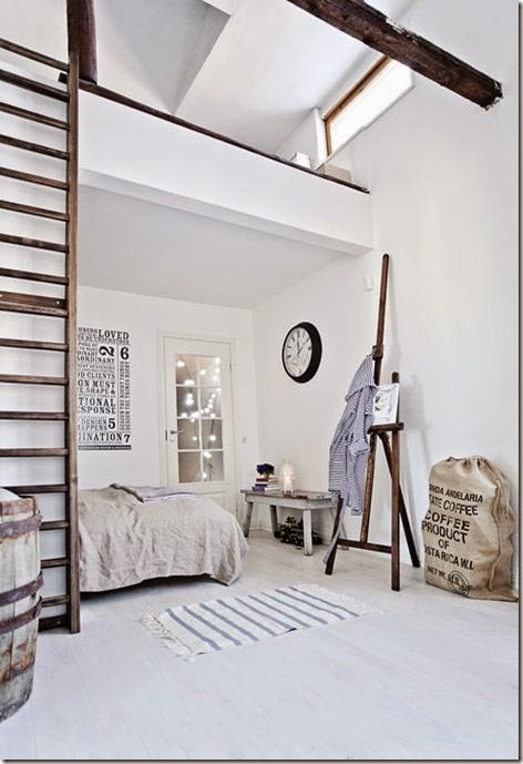 scandinavian bed room zen chic