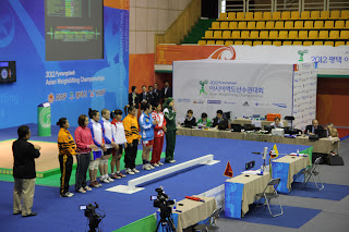 Presentation of the athletes (read my blog if you want to know why I lifted in the 53kg and not in the 48kg session)