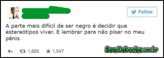 A PARTE DIFÍCIL DE SER NEGRO