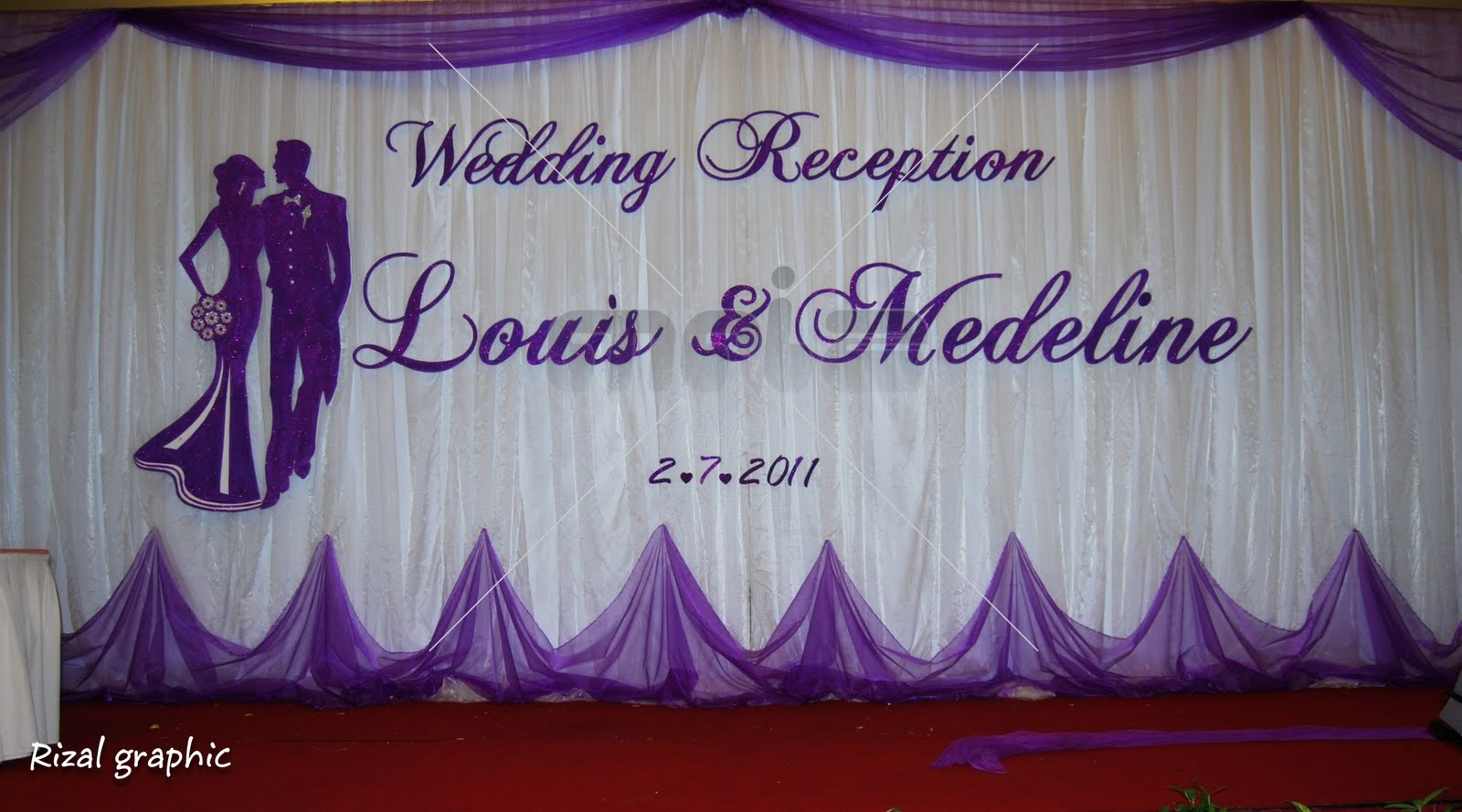 wedding backdrop for Louis &