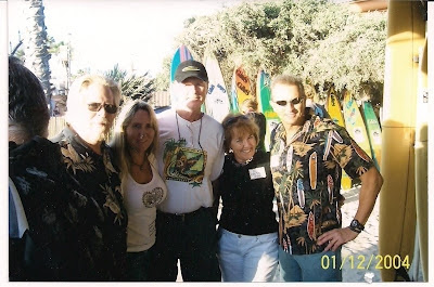 Concert/Skateboard promoter Don Branker, Laura Thornhill, Brian Logan, Di Dootson & Bryan Beardsley at a G&S event honoring Larry Gordon