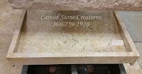 36x23.5xH5 Golden Orient Travertine Slant Sink H/F