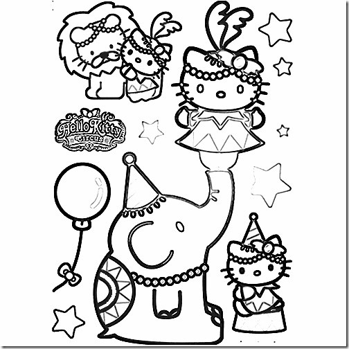 hello kitty circo blogcolorear (9)