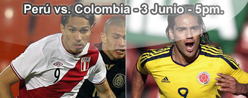 Peru vs Colombia en VIVO - 3 Junio 2012