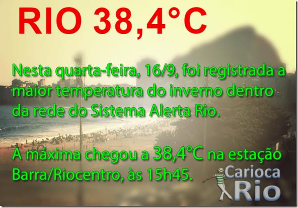 Dia mais quente do inverno Carioca