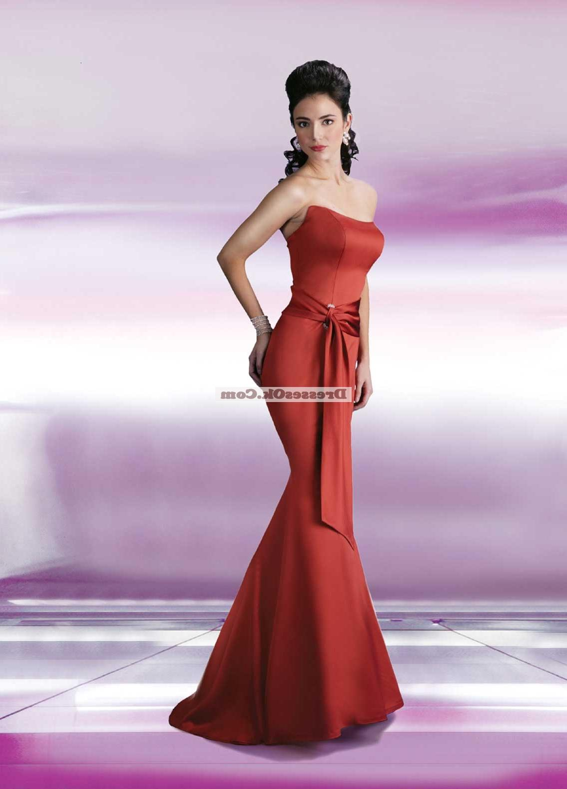 Floor-length Davinci red