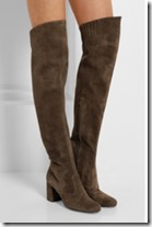 Saint Laurent stretch suede over the knee boot