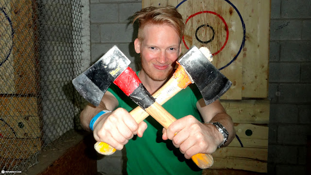 these BATL axes are for throwing in Toronto, Ontario, Canada