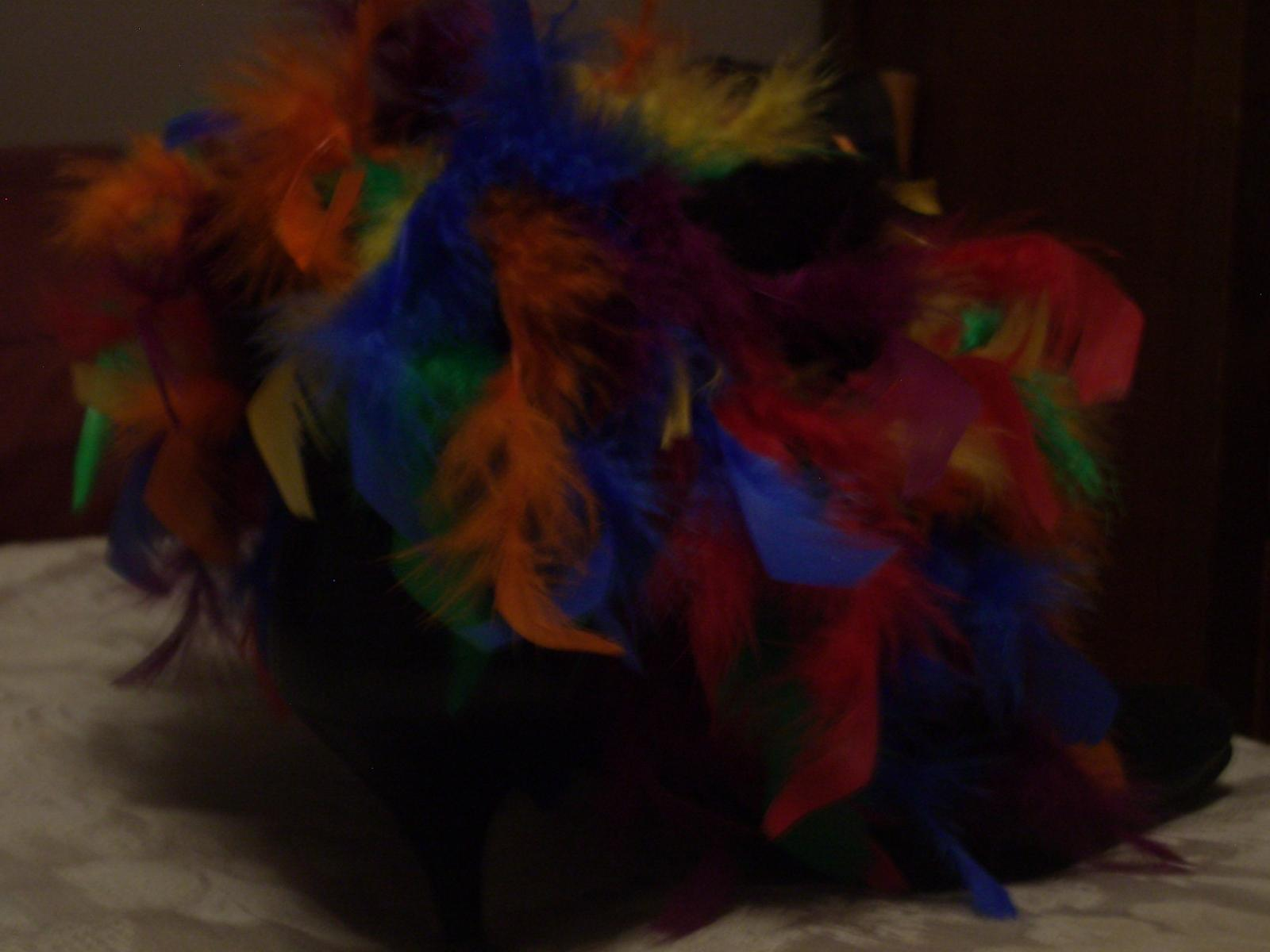 I added feather boa to