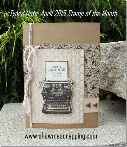 April 2015 SOTM Card