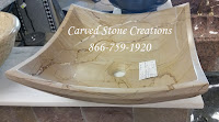 16x16xH6 Teakwood Marble Cozumel Square Sink