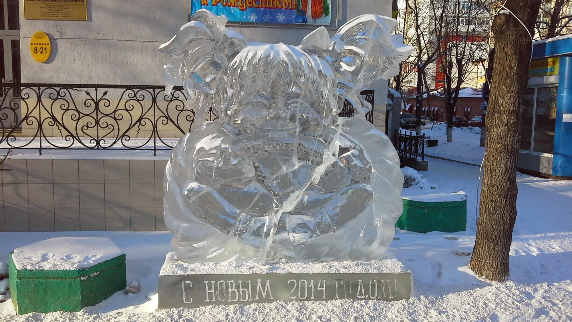 Ледовая скульптура Хабаровска - 1