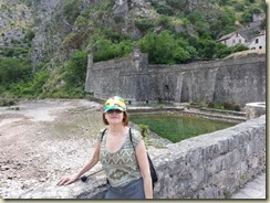 20150609_Ellen and Kotor city walls (Small)