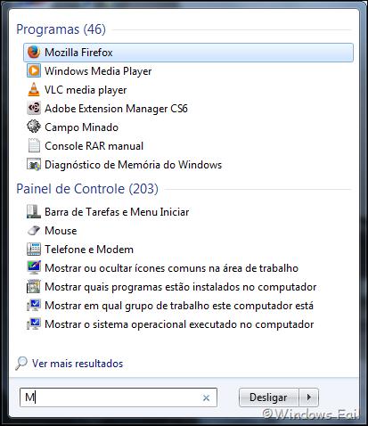 Encontre programas e arquivos rapidamente utilizando a barra de pesquisa do menu Iniciar