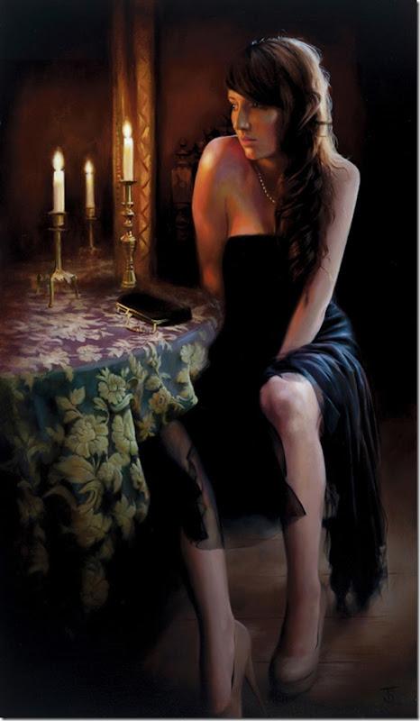 Candle Light-Tina-Sprat-ENKAUSTIKOS