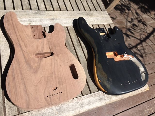 Bass guitars and chocolate a standard late 50s style p bass body served as a guide for the contouring maxwellsz