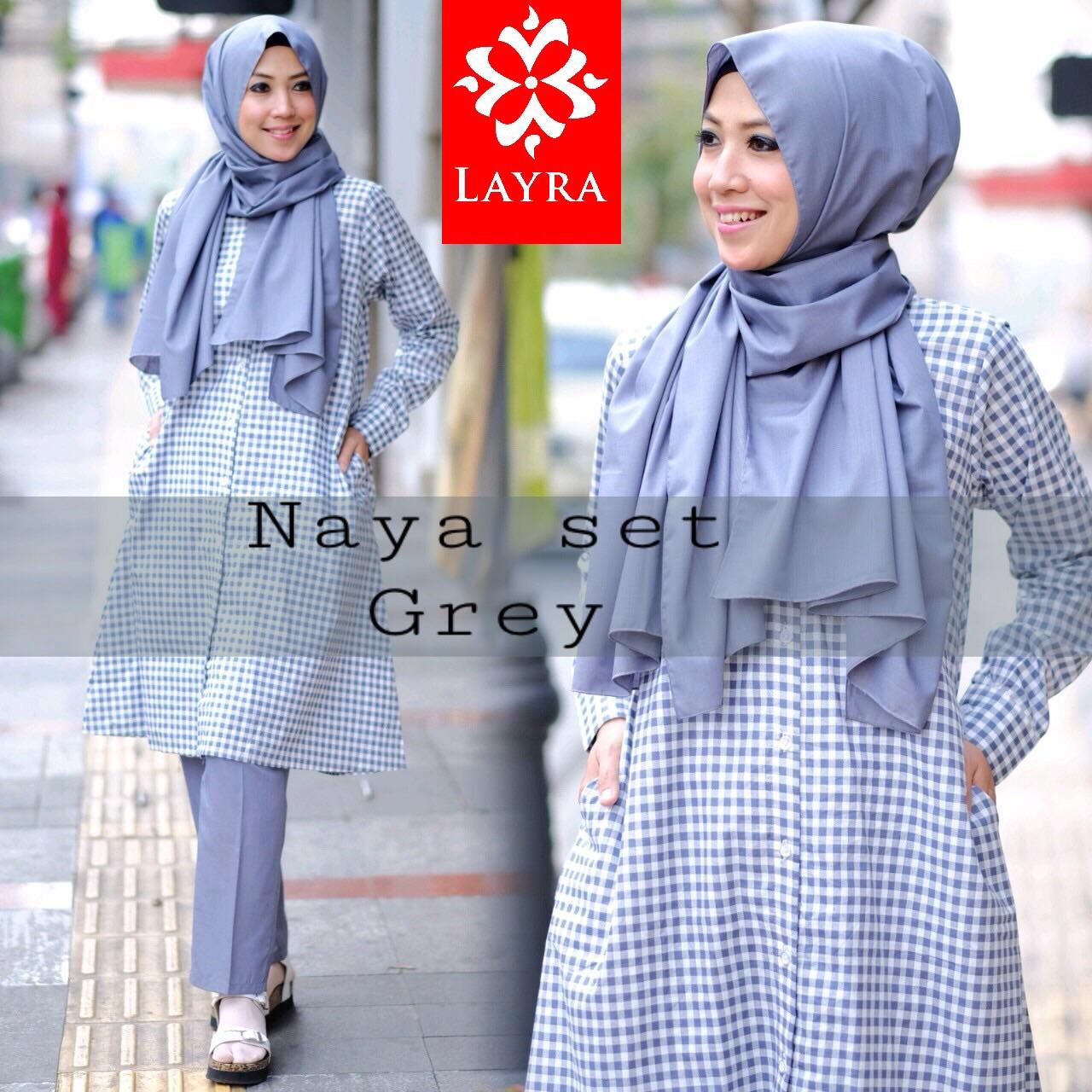 Pakaian Islami Abiti Moslem Style Naya Set By Layra