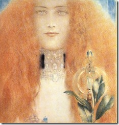 Fernand Khnopff Tete de femme Head of a Woman