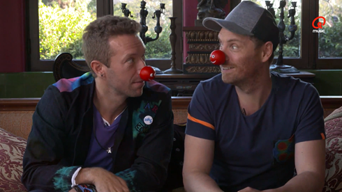 coldplay red nose