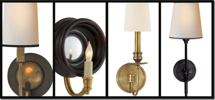 Ribbet collage Next House Lighting sconce collage