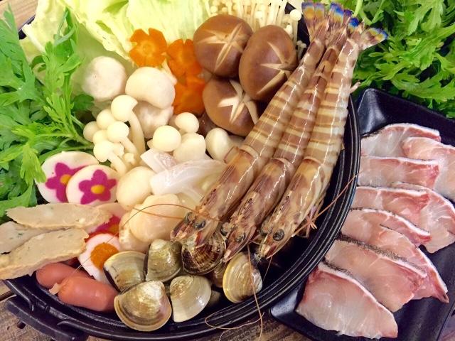 野生大明蝦魚片火鍋