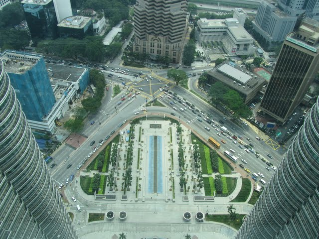 View over KL from Petronas Towers KL