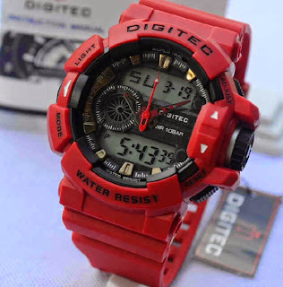 Jual jam tangan digitec 2080T full Red
