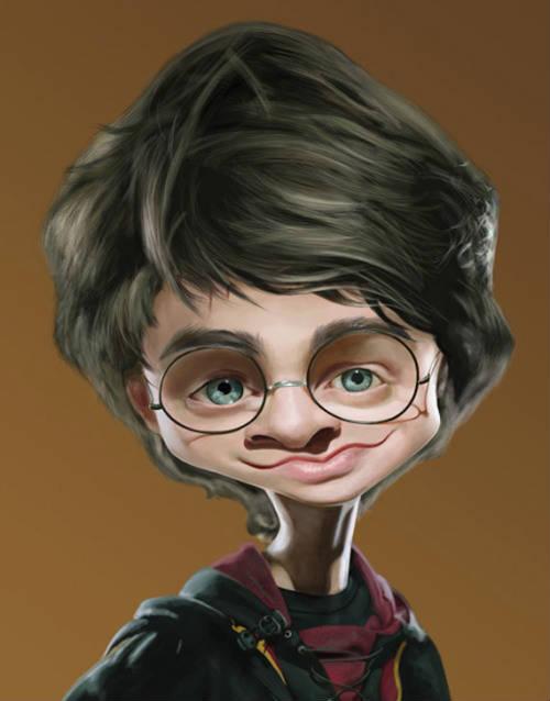 Дэниел Рэдклифф - Гарри Поттер - 18 юмористических карикатур на знаменитостей из 15 известных кинолент