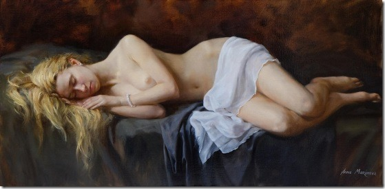 golden hair - Anna-Marinova - ENKAUSTIKOS