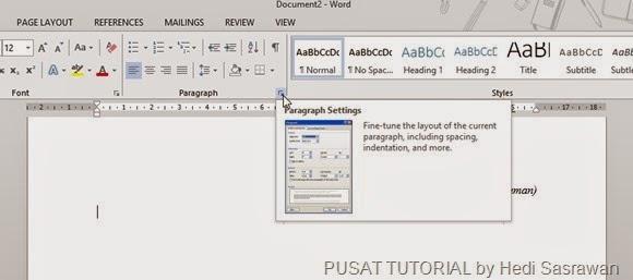 Tutorial Membuat Daftar Isi Dengan Microsoft Office Word