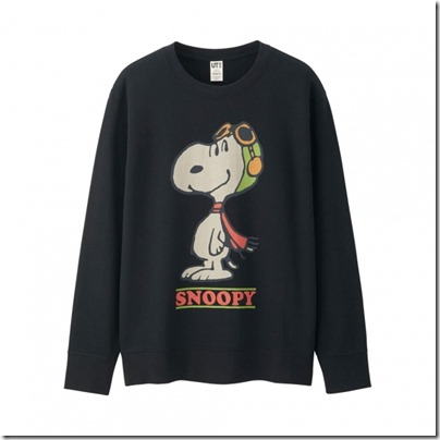 UNIQLO X Peanuts Men Long Sleeve Sweat Shirt 03