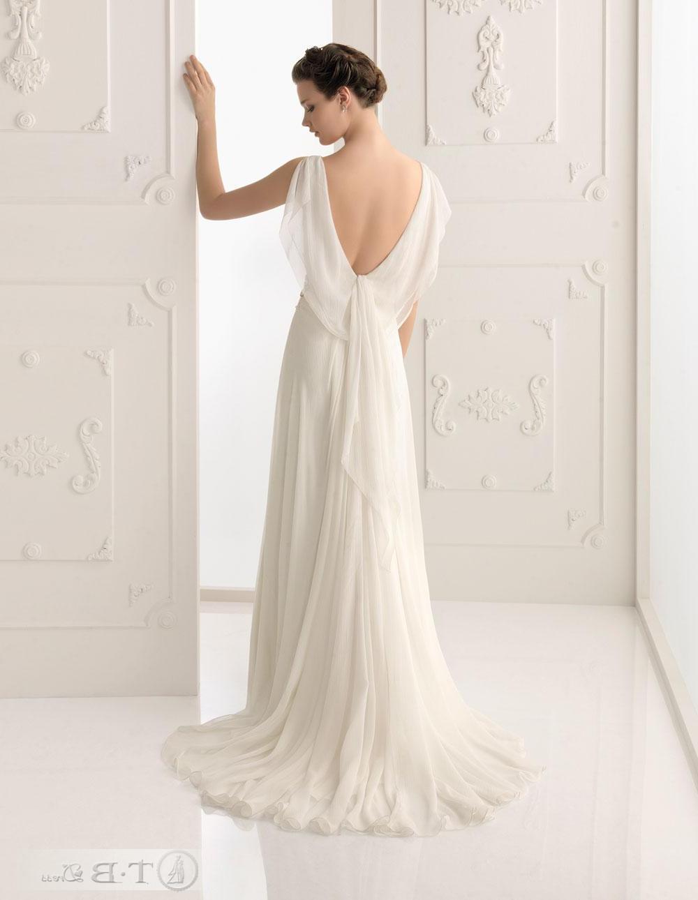Chic Sheath Column V-neck Floor-length Court Wedding Dresses 2012 New Style