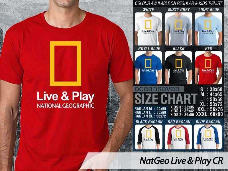 Kaos National Geographic NatGeo Live & Play distro ocean seven