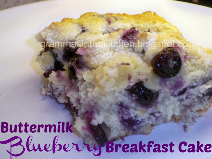 Buttermilk-Blueberry Breakfast Cake Recipe | Yummly