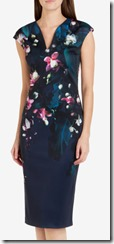 Ted Baker floral print midi dress