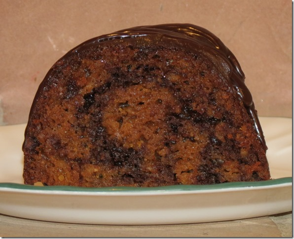 Sweet Potato Chocolate Marble Cake, Gluten Free, Grain Free