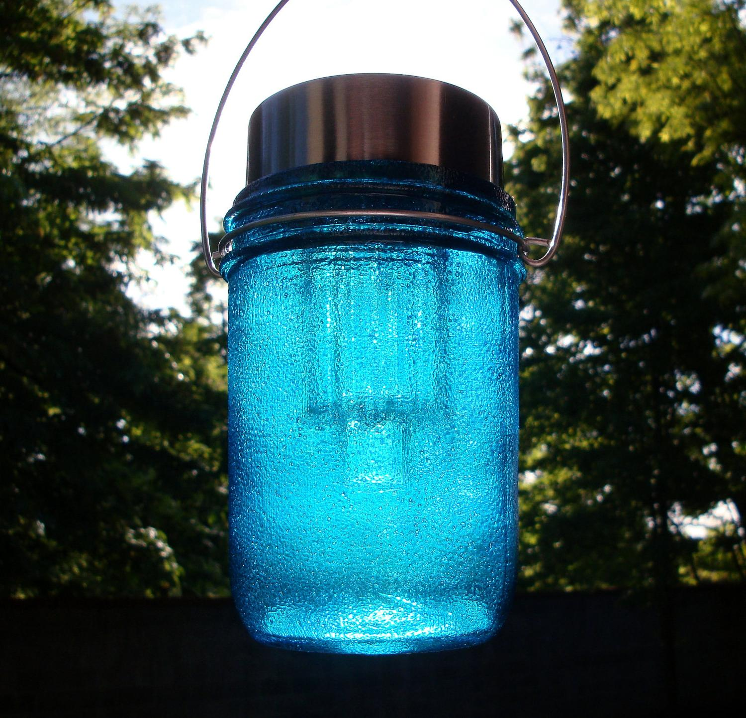 Upcycled Glass Mason Jar Solar