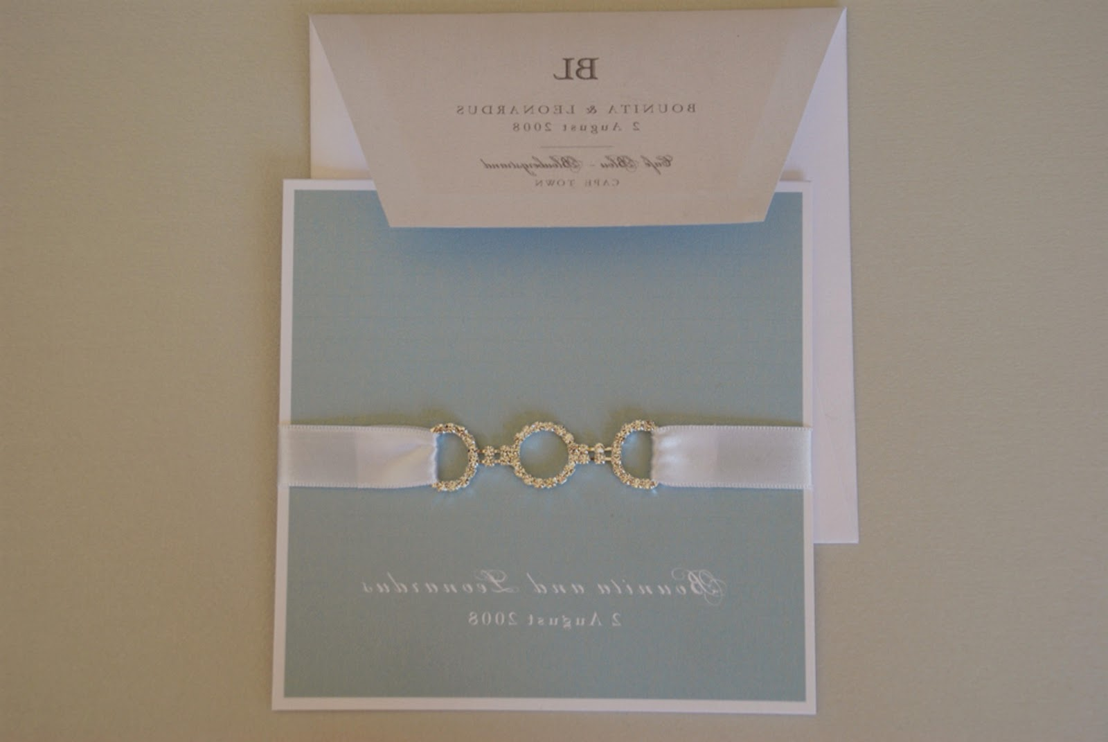 DIY wedding invitations and
