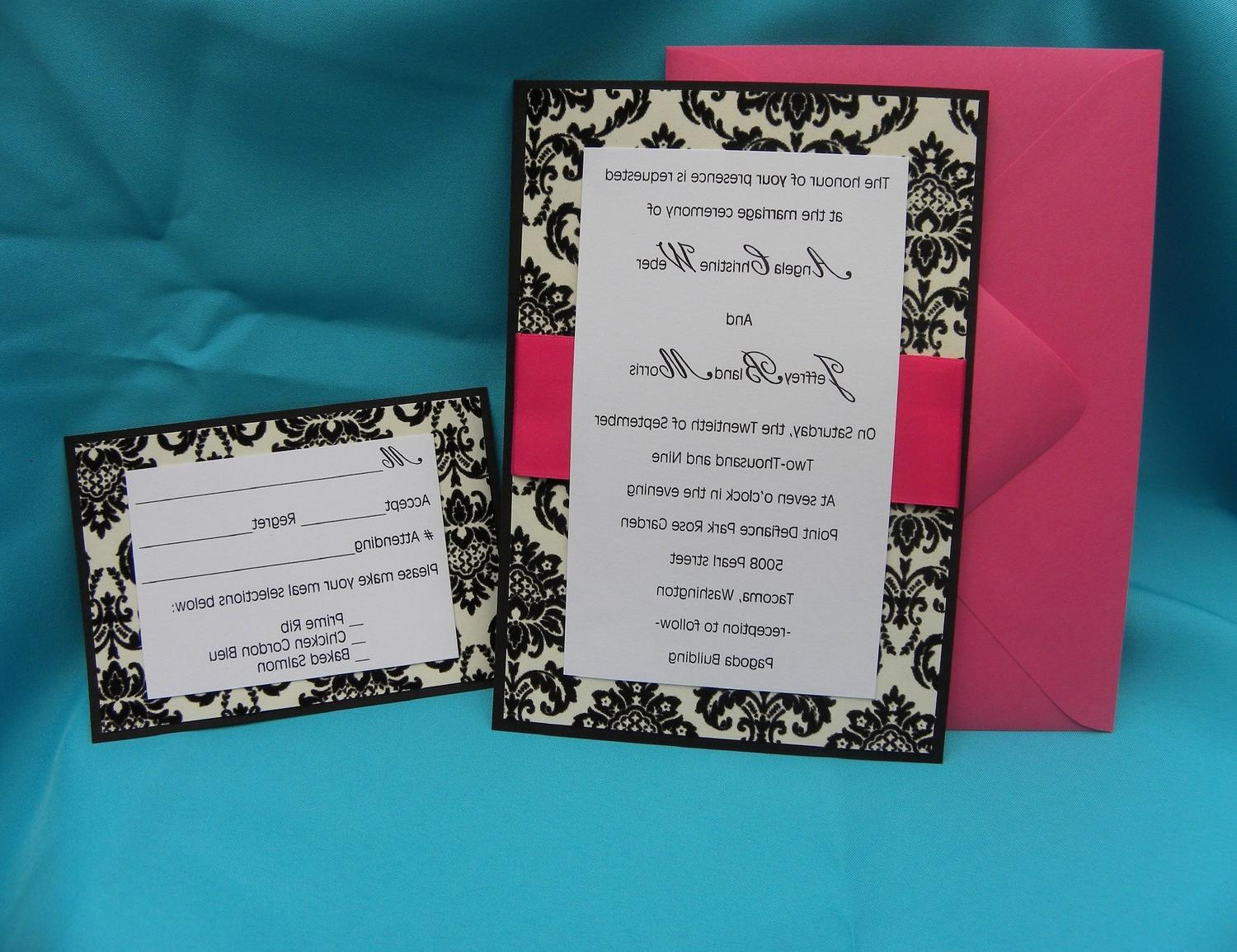 5x7 Damask Formal Wedding